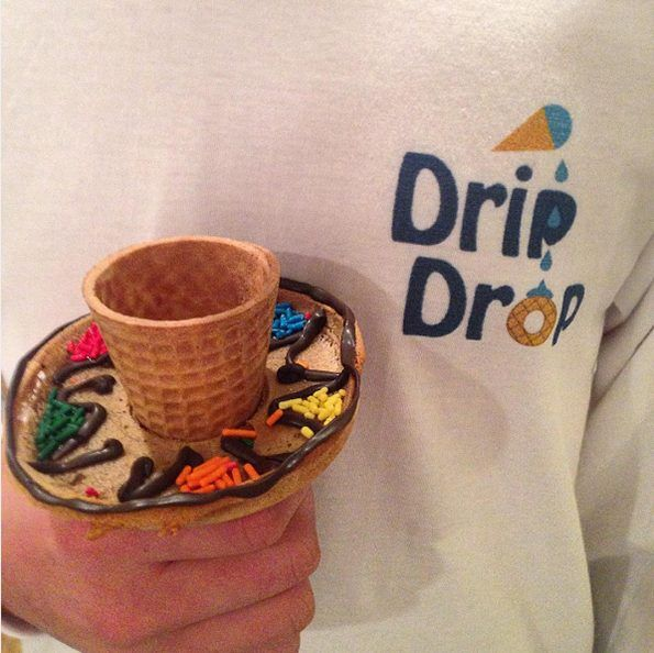4bf4293ccb15 Drip Drop Adds An Edible Tray To Your Ice Cream Cones