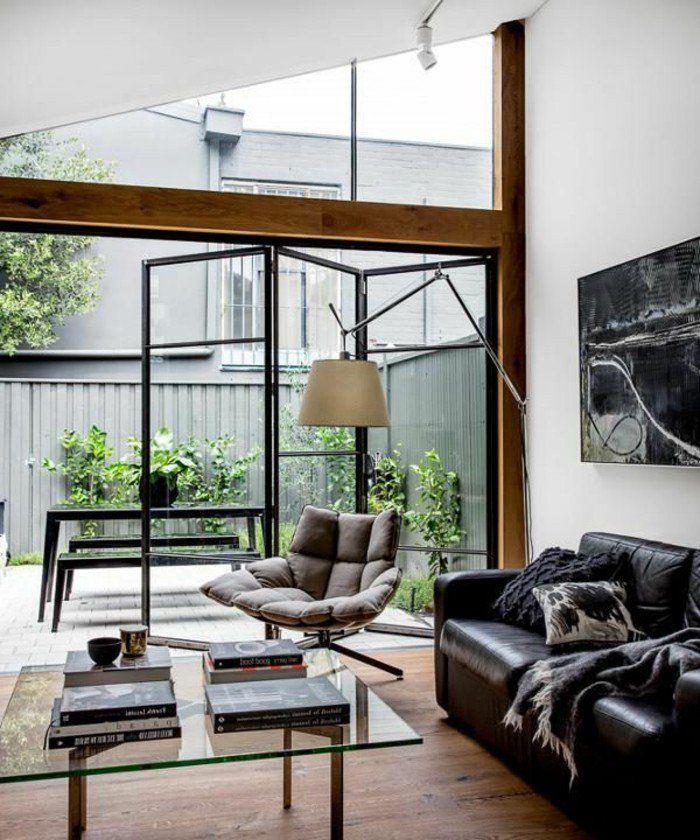 les portes pliantes design en 44 photos arch intrr deco pinterest portes salon et. Black Bedroom Furniture Sets. Home Design Ideas