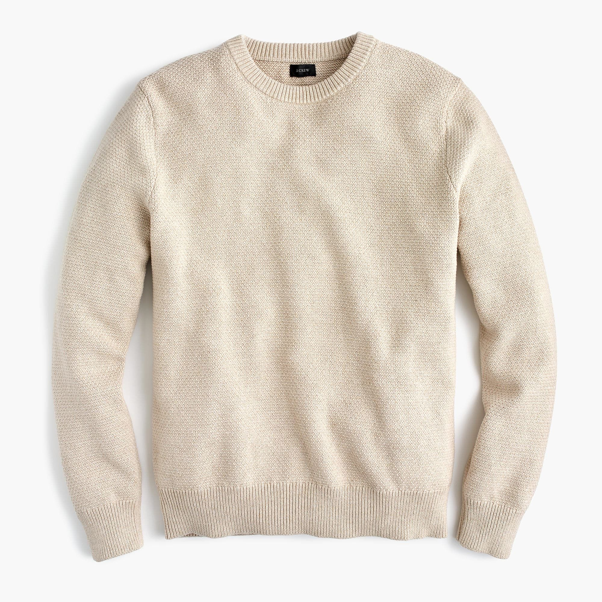 J.Crew - Cotton crewneck sweater in moss stitch  a2180aba3