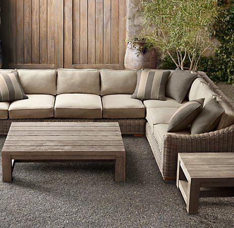 Provence Luxe Customizable Sectional Favorite Outdoor Furniture