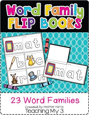 NEW Word Family Flip Books!