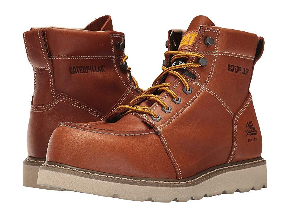 Caterpillar Tradesman Steel Toe Brown Mens Work Boots The Caterpillar Tradesman Steel Toe boot protects you from impacts and slippery surfaces so you can move through you...
