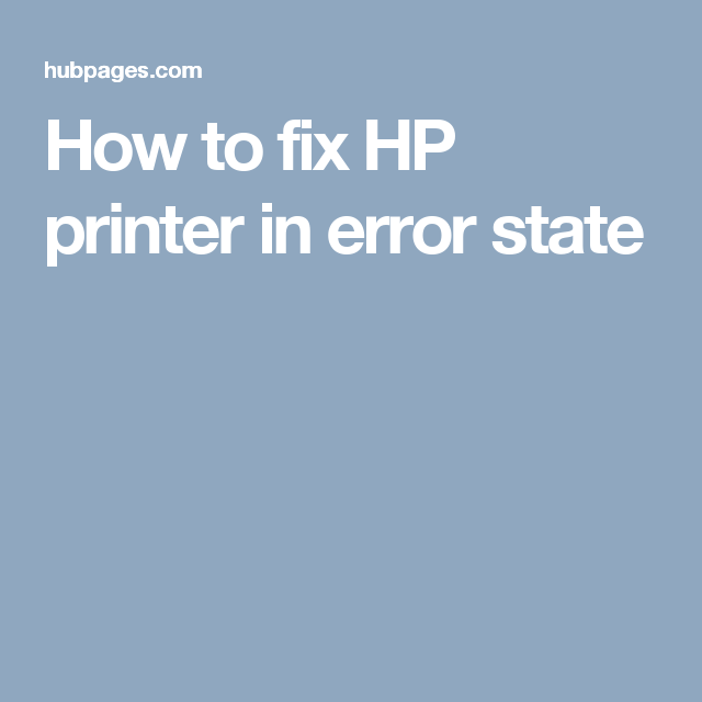 How to fix hp printer in error state hp printer setup support how to fix hp printer in error state fandeluxe Images