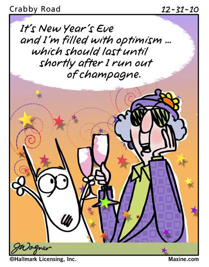 Maxine on New Years Eve | Funny new year, Maxine, New year jokes