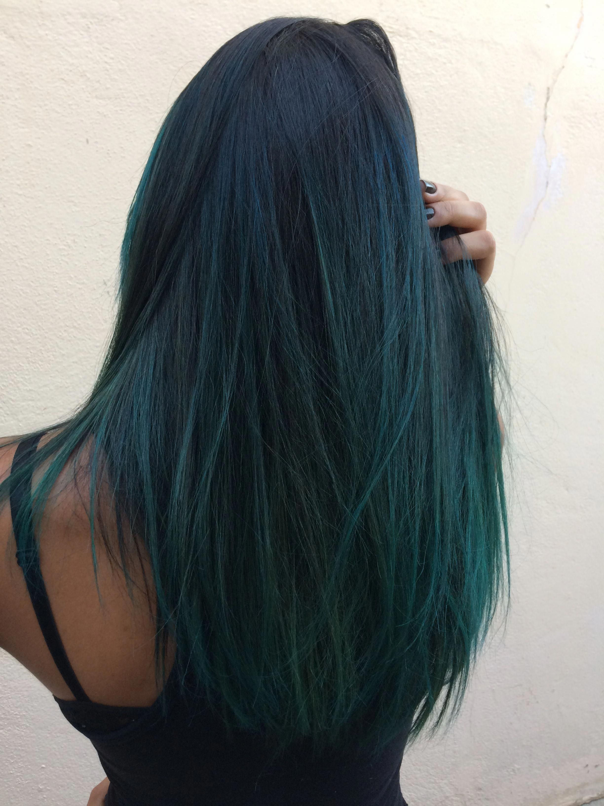 Hair Newhair Ombrehair Ombre Green Blue Color Cabelocolorido Hairstylecolorblueteal Hair Color For Black Hair Brunette Hair Color Brown Ombre Hair