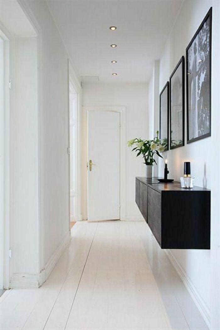 Notre inspiration du jour est la console d\'entrée! | Couloir blanc ...