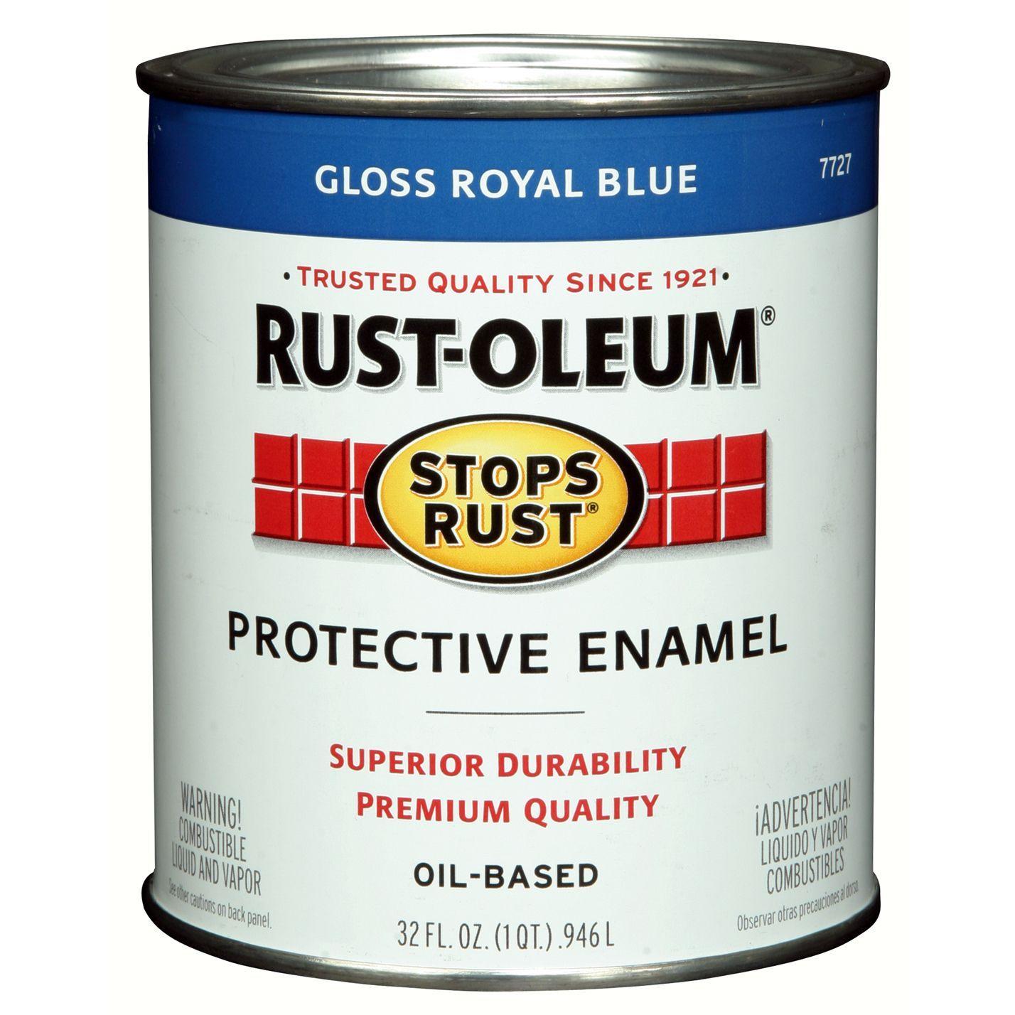 Rustoleum Stops Rust 7727 502 1 Quart Royal Protective