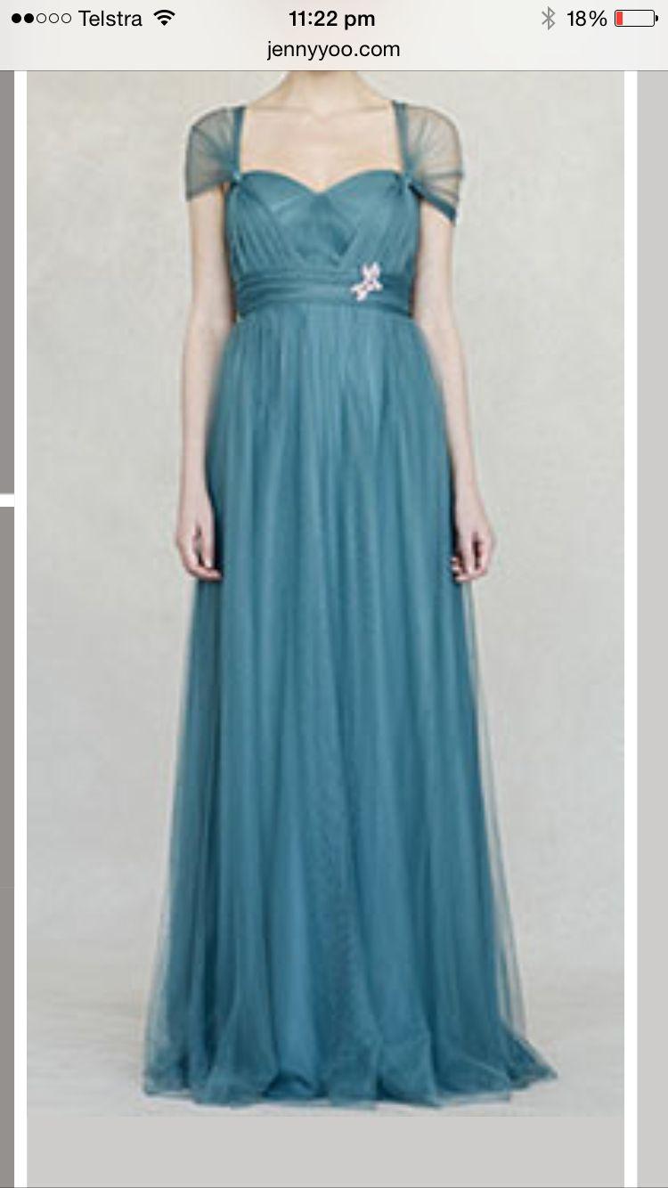 Beautiful vintage teal dress by jenny yoo   Wedding Bridesmaid ...