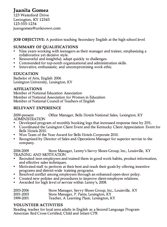 Http Www Teachers Resumes Com Au Whether You Are Requisitioning An Advancements Posit Teacher Resume Examples High School Resume High School Resume Template