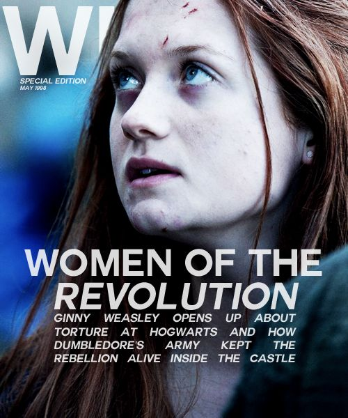 Women Of The Revolution So Cool Oh How I Wish This Article And Magazine Existed Ginny Weasley Harry Potter Obsession Harry Potter Fandom