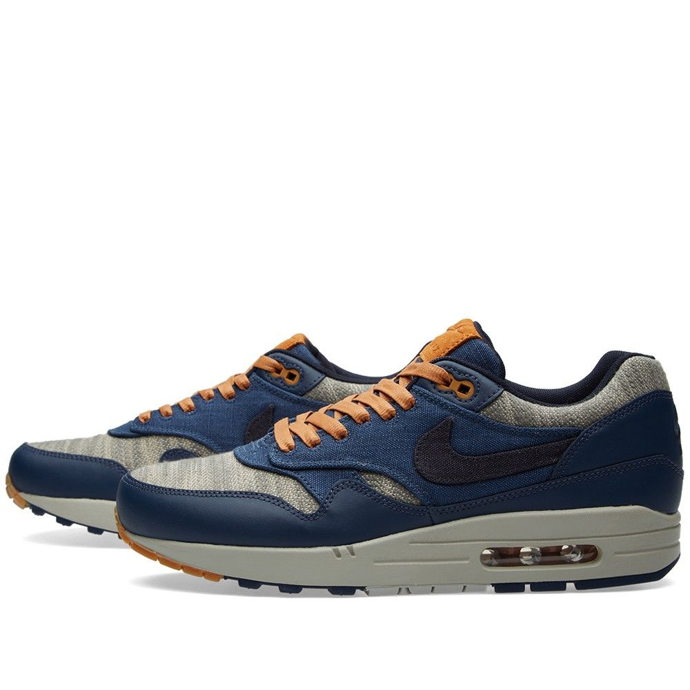 Nike Air Max 1 Premium \u0026quot;Midnight Navy \u0026amp; Gold Brown\u0026quot; | sneakers | Pinterest | Navy Gold, Nike Air Max Premium and Nike Air Max