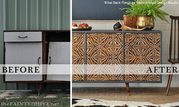 Tribal Batik Furniture Stencil Tribal Furniture St