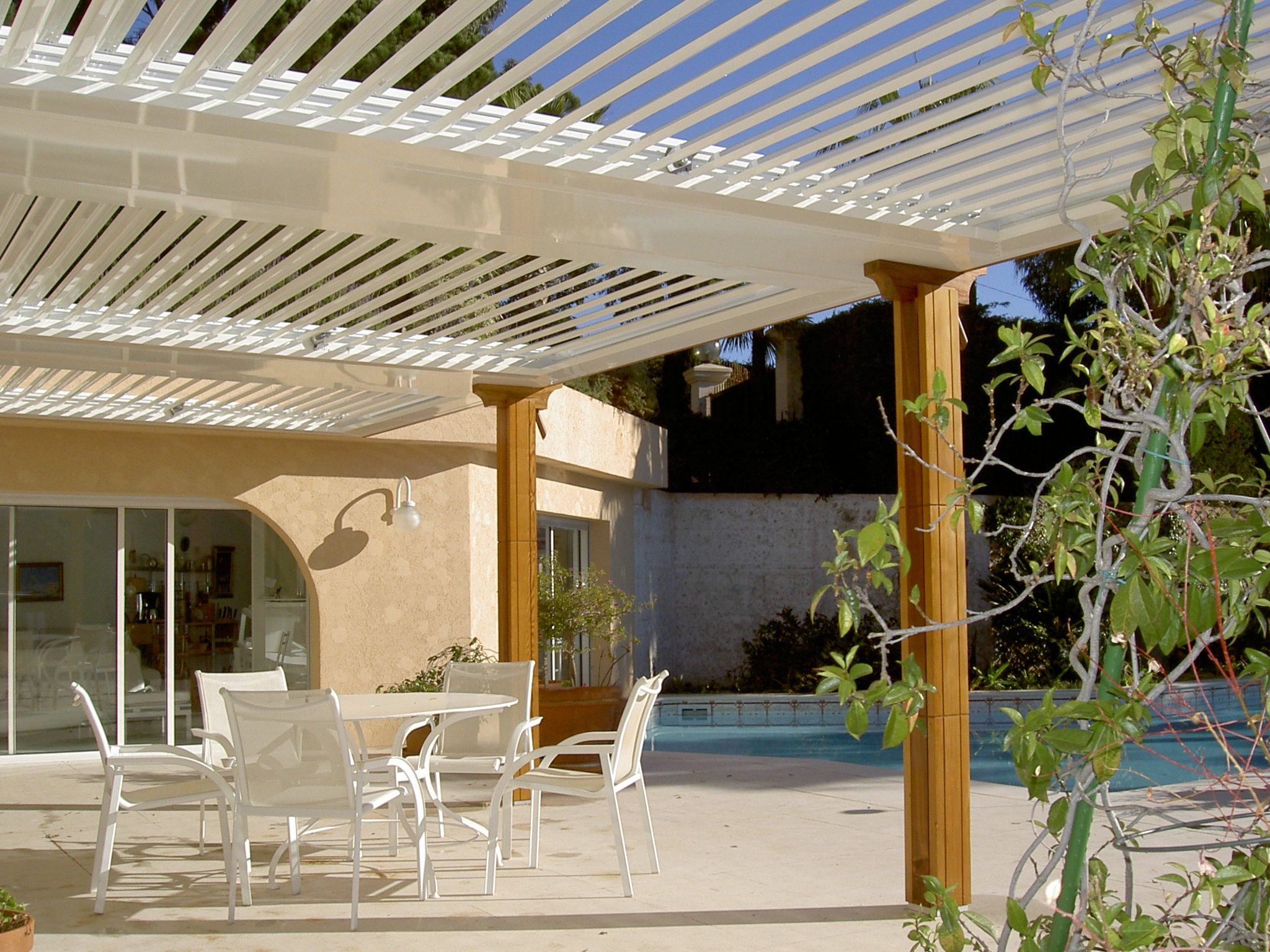 Deck & Patio Living under deck ceilings Retractable awnings