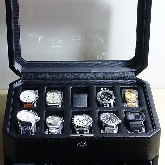 Windsor 10 Piece Watch Box With Drawer Watch Box 10 Things Pieces