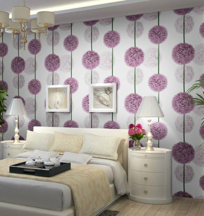 Lila Tapete: 48 interessante Ideen! | schlafzimmer | Pinterest ...