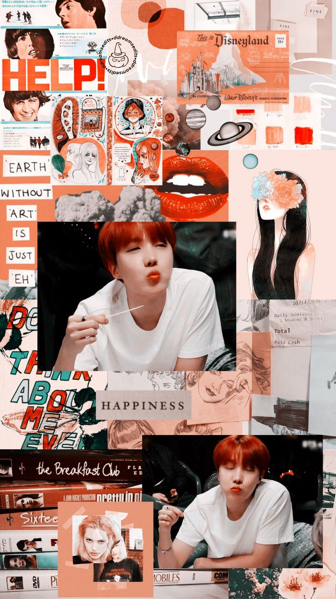 jhope aesthetic wallpaper credits to