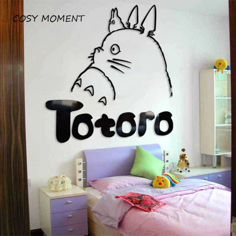 Cheap Wall Decals, Buy Quality Wall Sticker Cartoon Directly From China Totoro  Wall Sticker Suppliers: COSY MOMENT Dimensional Totoro Wall Stickers  Cartoon ...