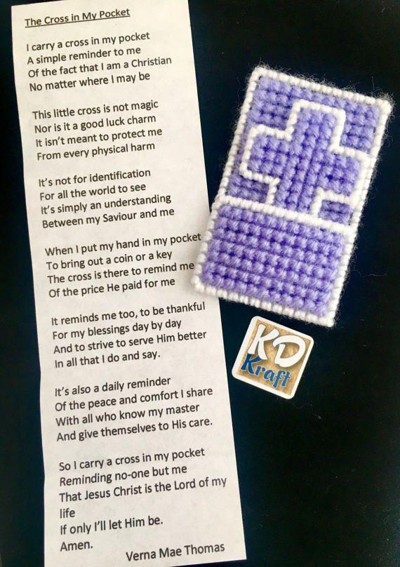 Cross In My Pocket Keepsake With Poem By Verna Mae Thomas