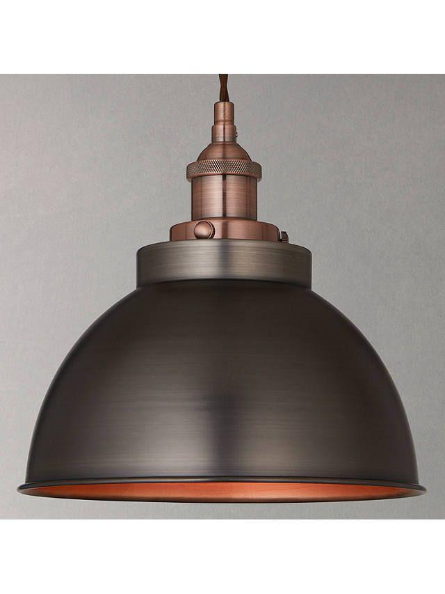 John Lewis Amp Partners Baldwin Pendant Ceiling Light Pewter Copper In 2020 Ceiling Lights