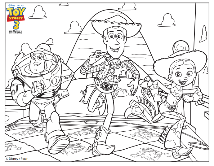 12 Printable Toy Story Coloring Pages Buzz Woody Jessie