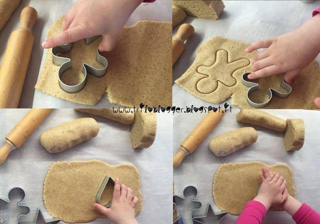 Biscotti Bambini ~ Biscotti di frolla con farine miste triloblogger cucinare con i