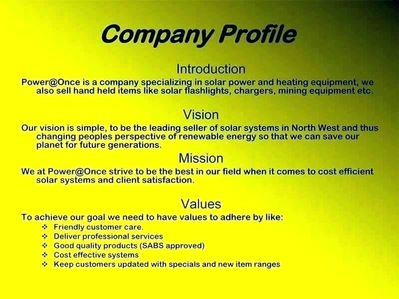 Business Profile Template Pdf Free Download Simple Example Sample
