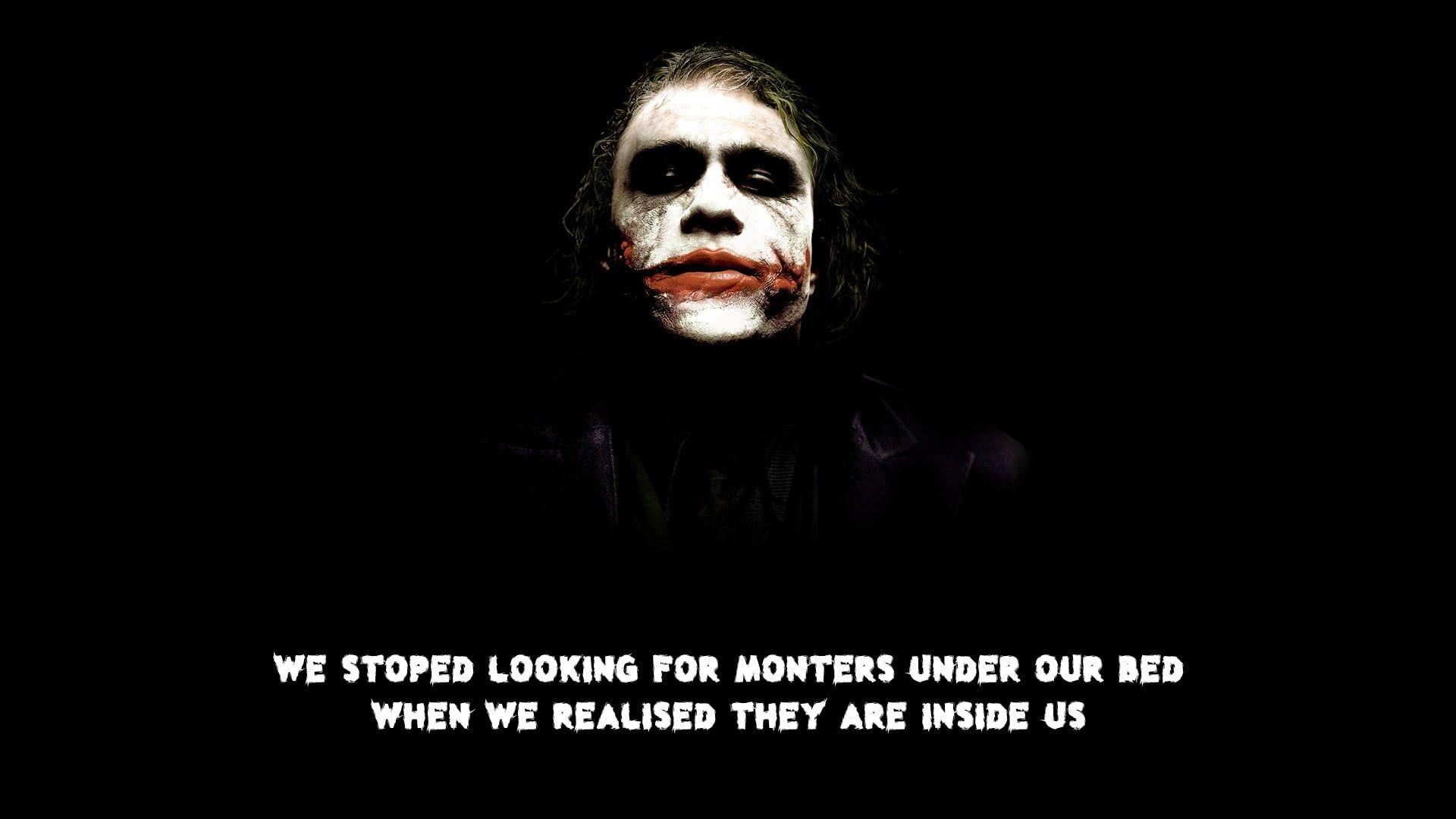 Joker Quote Typo The Dark Knight 1080p Wallpaper Hdwallpaper Desktop Joker Wallpapers Dark Knight Wallpaper Dark Knight Returns Joker