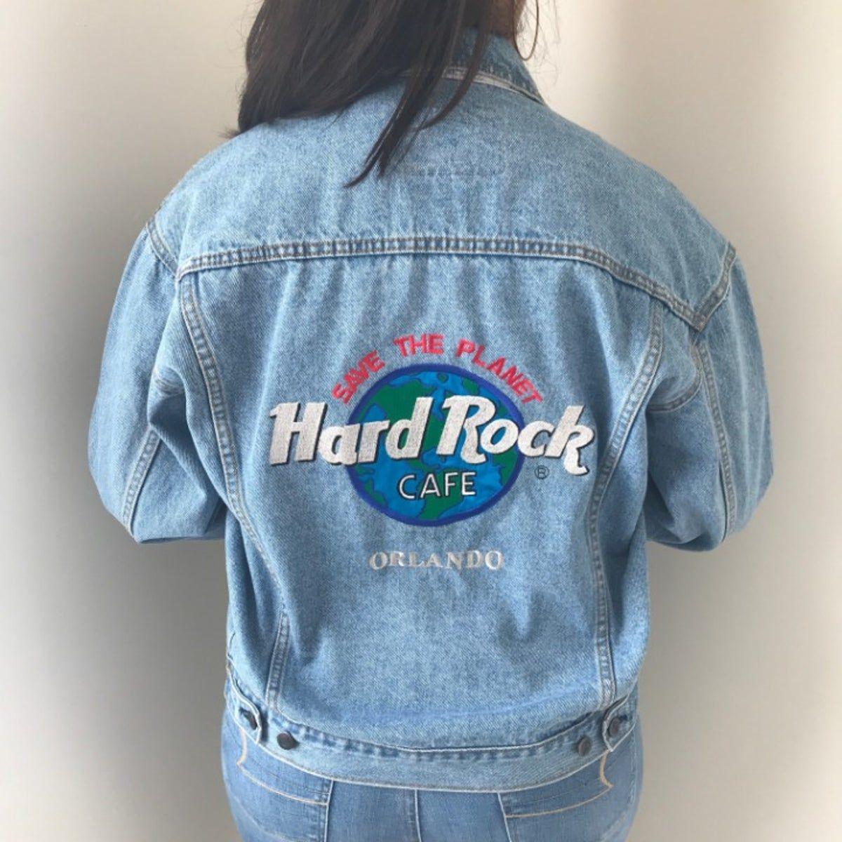 Authentic Hard Rock Cafe Denim Jacket Hard Rock Hard Rock Cafe Cafe Jacket [ 1200 x 1200 Pixel ]