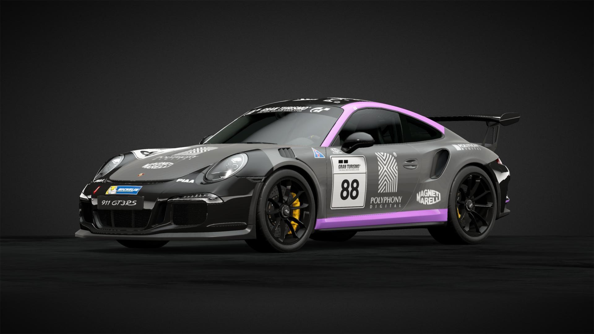 Porsche GT3 RS 991 Livery Design for Gran Turismo's GT