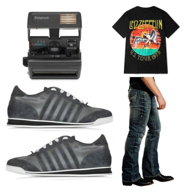"""""""70s-Mens"""" by kayla-wilburn-1 on Polyvore featuring Rock & Roll Cowboy, Dsquared2, Impossible, men's fashion and menswear"""