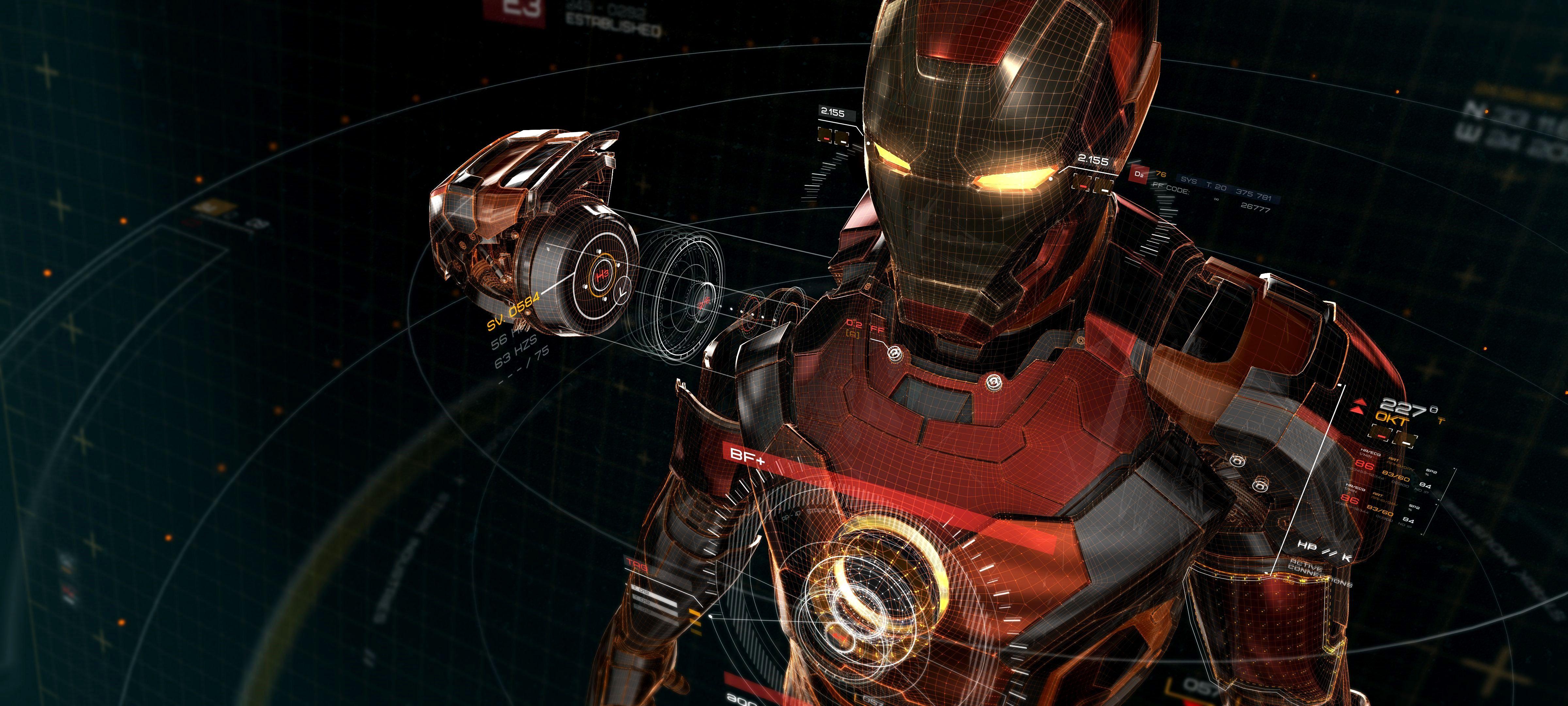 Wallpapers 4k Para Pc Iron Man Gallery Di 2020 Iron Man Avengers Arc Reactor