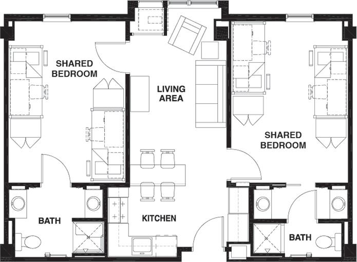 Floor Plans University Centre Student Apartments in