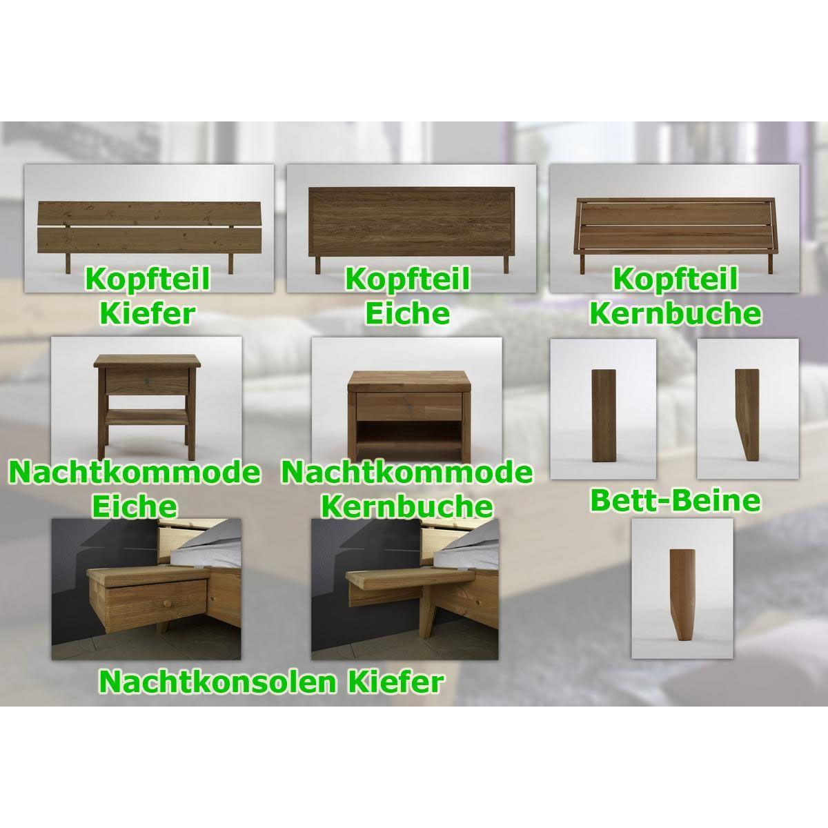 massivholz schubladenbett 180x200 holzbett bett kiefer massiv, Schlafzimmer design