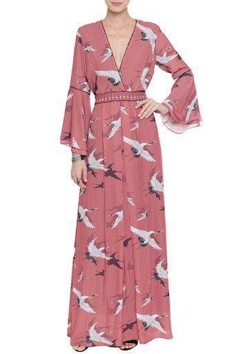 e1a352db5 Vestido Crepe Listras Tokyo   Moda   Vestidos largos, Vestidos ...