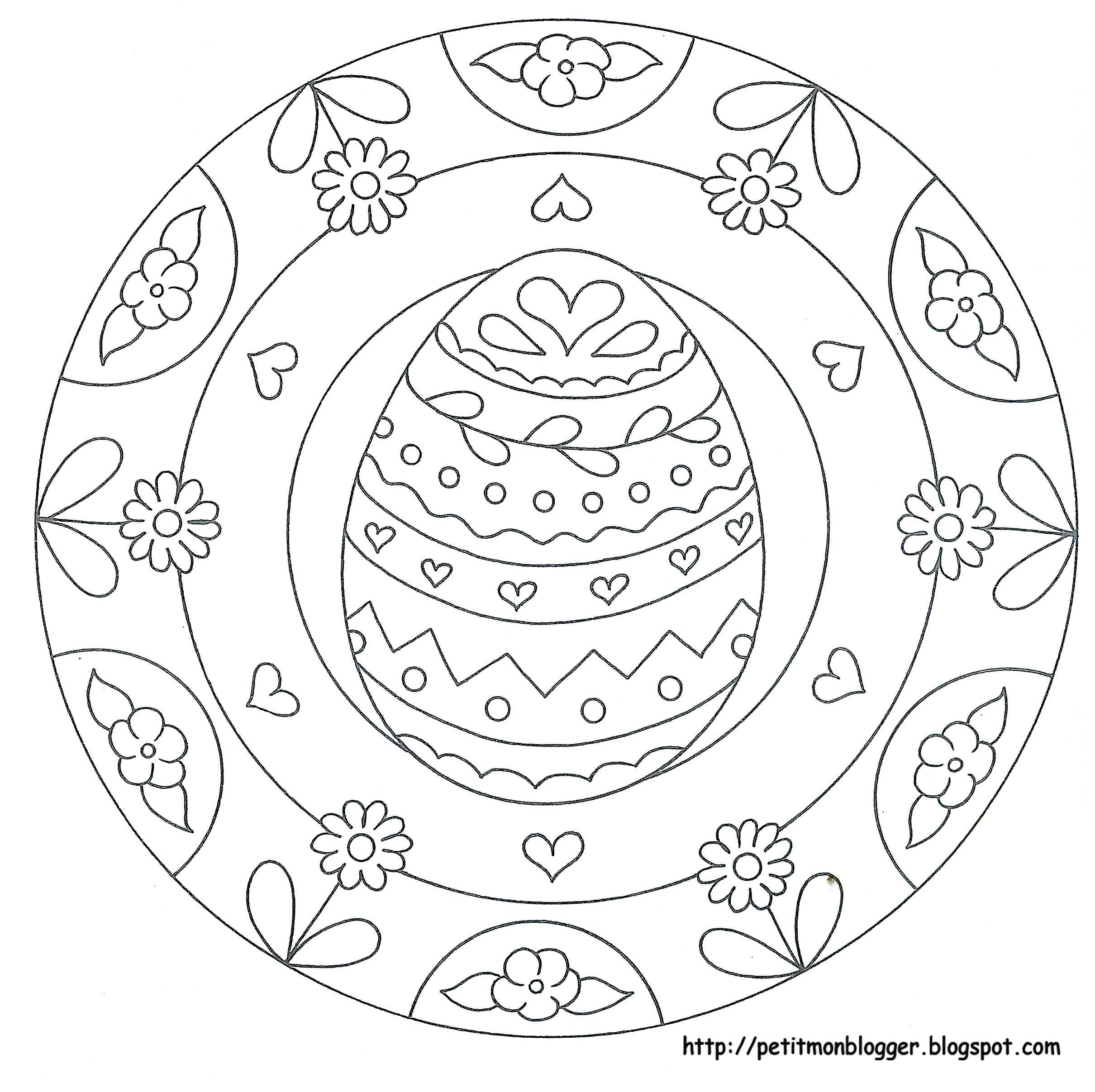 Archivio Album Easter Coloring Pages Easter Colouring Mandala Coloring