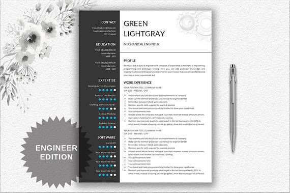 engineer resume printable template editable in word