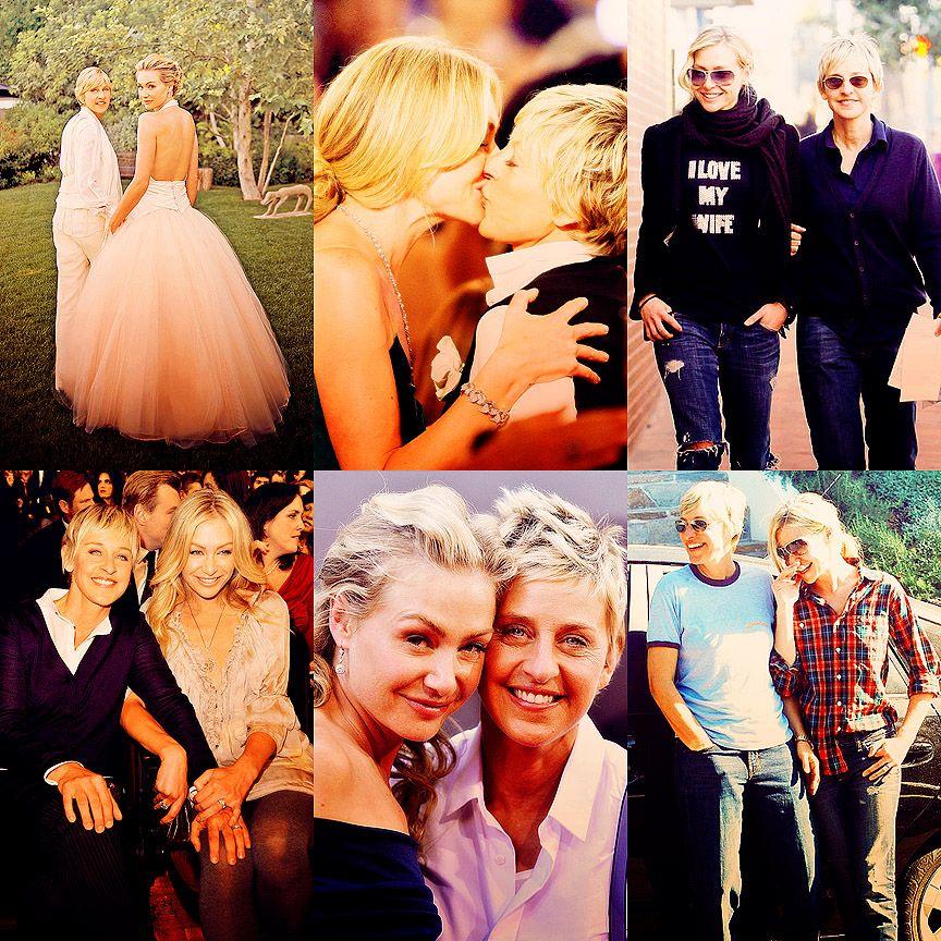 Portia De Rossi Wedding Gown: Ellen And Portia Degeneres