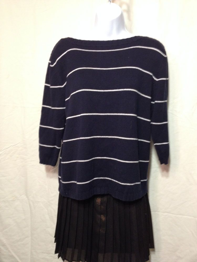 White Stag Striped Sweater Sz. M Womens