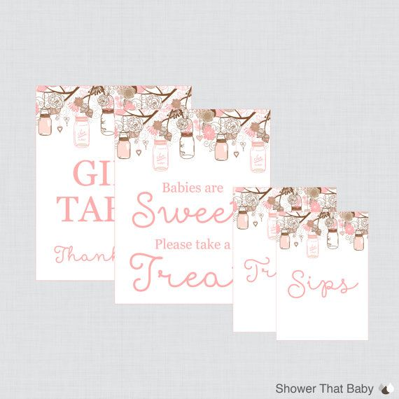 Printable Baby Shower Table Signs - Favors Sign, Babies are Sweet