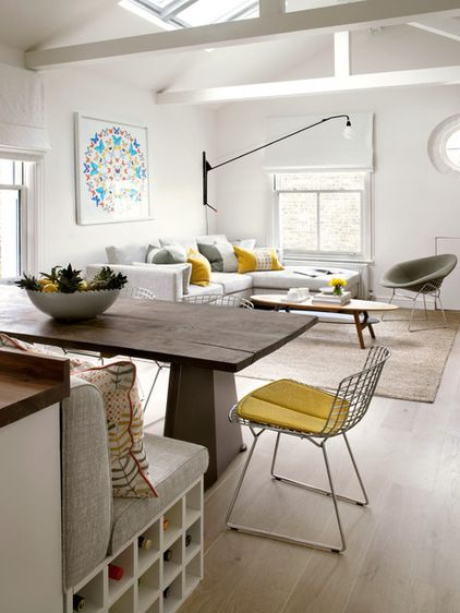 Contemporary Open Plan #Living #Dining Room by Amory Brown - Pinned