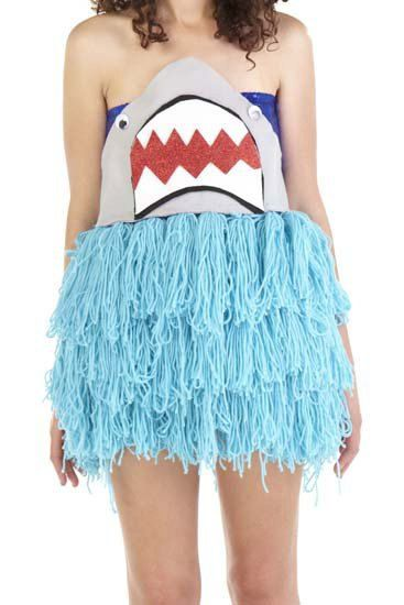 Shark Yarn Dress. HALLOWEEEEEEN IDEA!  sc 1 st  Pinterest & Shark Yarn Dress. HALLOWEEEEEEN IDEA! | Fun | Pinterest | Shark