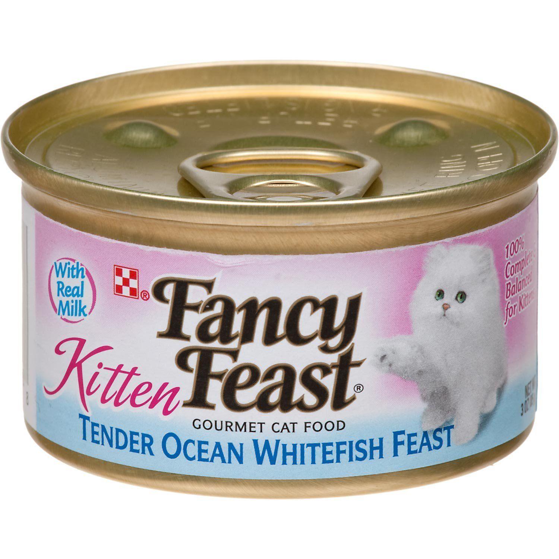 Fancy Feast Gourmet Kitten Tender Ocean Whitefish Feast Canned Cat Food 24 3oz Cans Startling Review Avail Fancy Feast Cat Food Kitten Food Canned Cat Food