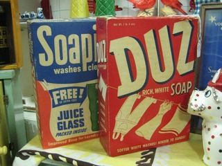 Getting Dishes Out Of Duz Detergent In The 60s Vintage Laundry