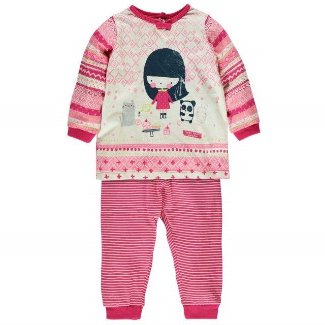 Two-Piece Pajamas / Pyjama deux pièces Rose à motifs Souris Mini