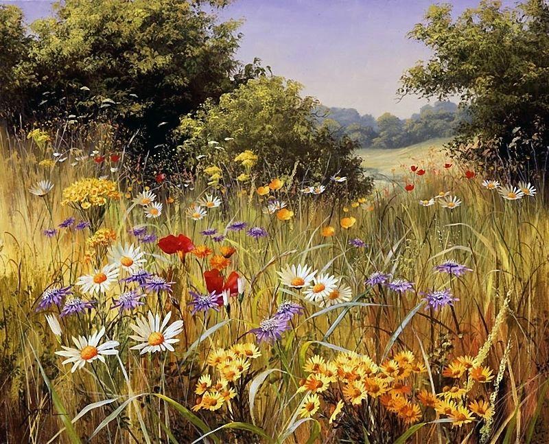Полевые цветы в картинах Мери Дипнолл - Ярмарка Мастеров - ручная работа, handmade