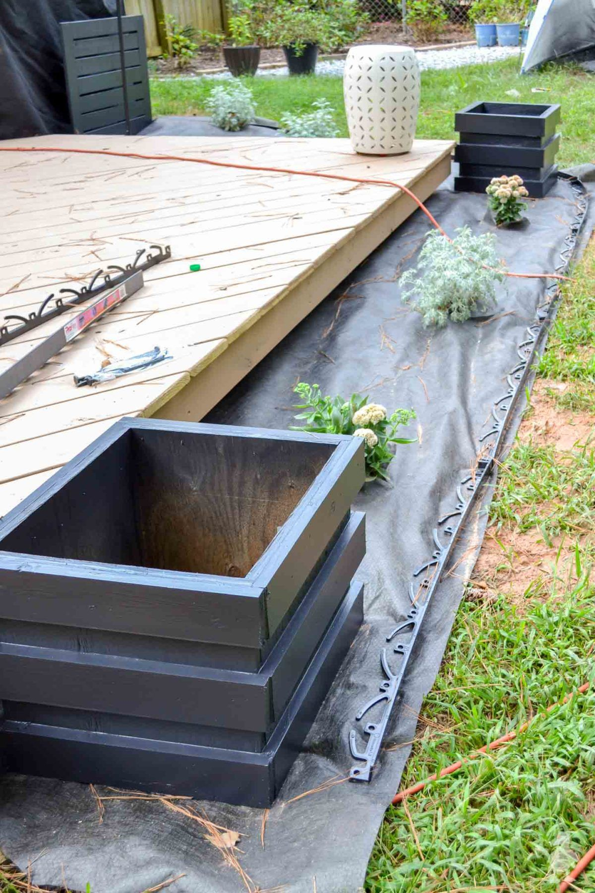 Landscaping Around the New Deck + Lots of Paint! (With ...