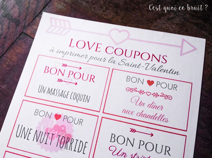 coupons d 39 amour imprimer pour la saint valentin no l pinterest la saint valentin saint. Black Bedroom Furniture Sets. Home Design Ideas
