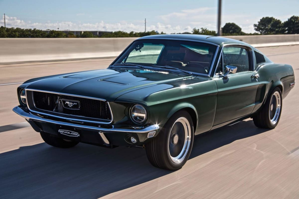 A classic ford mustang with thoroughly modern underpinnings that sounds right up our street