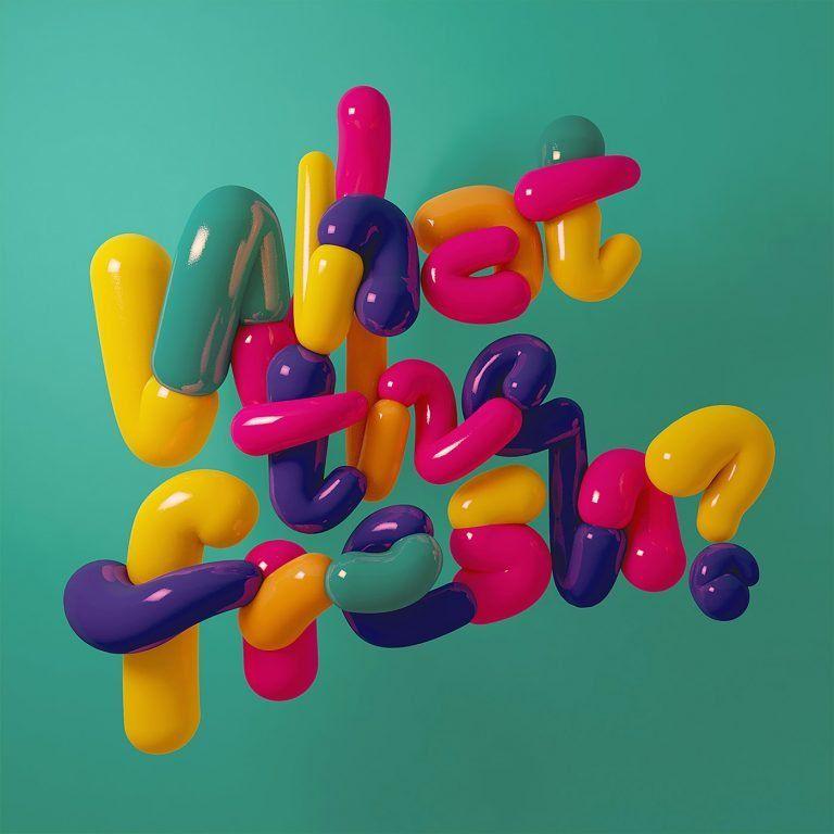 What types!  Creative typefaces by Carlos Cadenas - typography carlo cadenas 04 768x768 #3dtypography