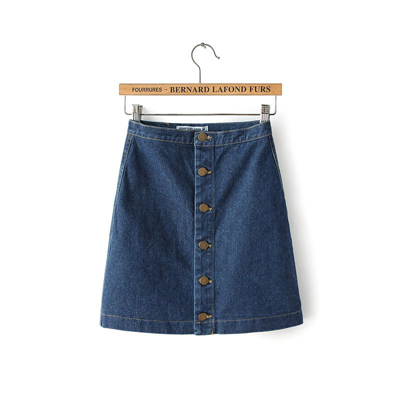 European style 2015 summer new women's fashion denim skirt high waist buttons front A line lady's casual sexy jeans skirt saias - http://www.aliexpress.com/item/European-style-2015-summer-new-women-s-fashion-denim-skirt-high-waist-buttons-front-A-line-lady-s-casual-sexy-jeans-skirt-saias/32344206007.html